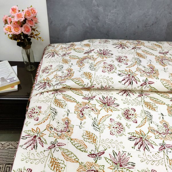Colourful Floral Butta Single Bedsheet