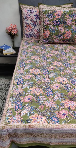 Floral Biva Double Bedsheet