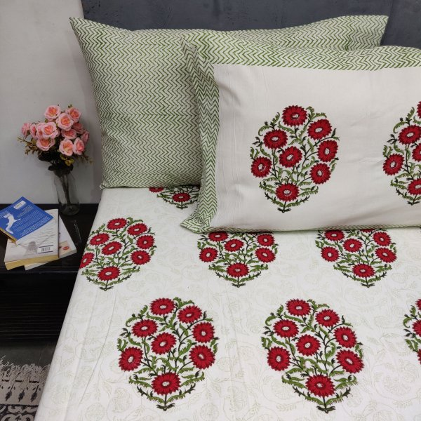 Floral Saanjh Double Bedsheet