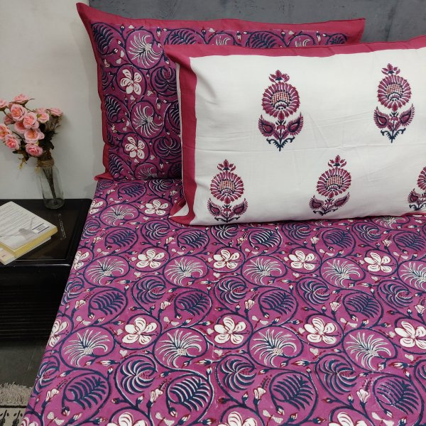 Layka Floral Double Bedsheet