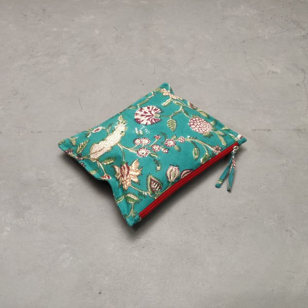 Dark Green Large Canvas Pouch