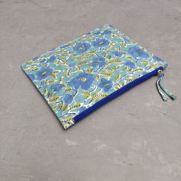 Floral Large Canvas Pouch LCP24