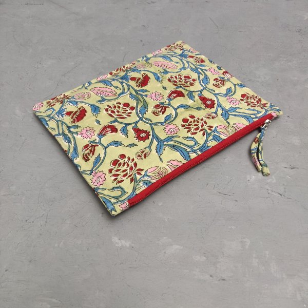 Floral Large Canvas Pouch LCP26