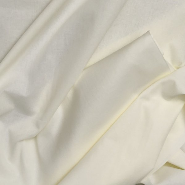Off White Plain Fabric