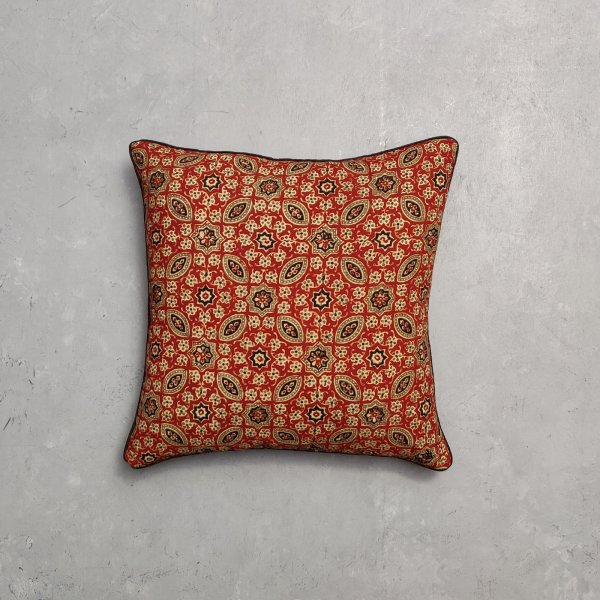 Reversible Multi Handblock Printed Cushion Cover CC26