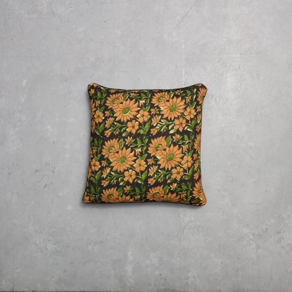 Reversible Dabu Handblock Printed Cushion Cover CC35