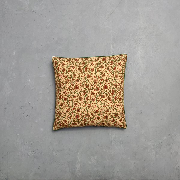 Reversible Bagru Handblock Printed Cushion Cover CC40