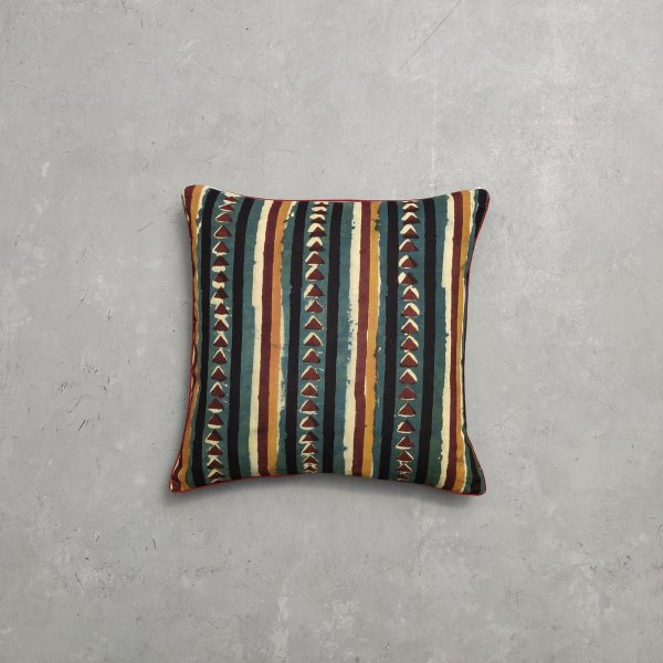 Reversible Dabu Handblock Printed Cushion Cover CC42