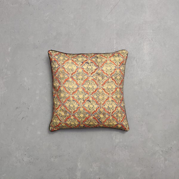 Reversible Multi Handblock Printed Cushion Cover CC53