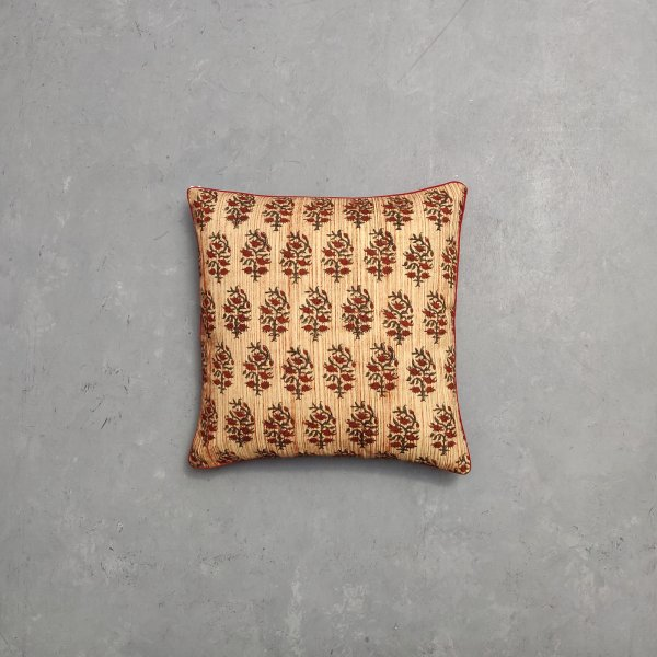 Reversible Bagru Handblock Printed Cushion Cover CC58