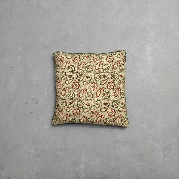 Reversible Bagru Handblock Printed Cushion Cover CC61