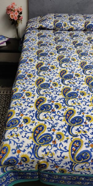 Handblock Single Bedsheet BHS100