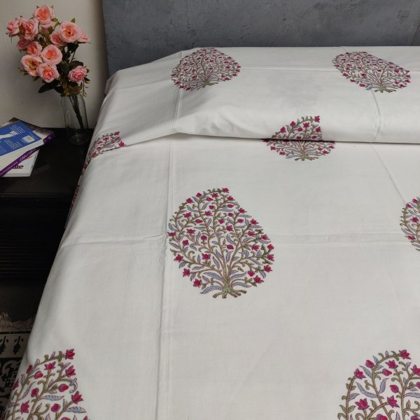 Handblock Single Bedsheet BHS125