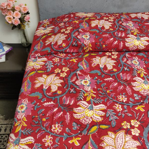 Handblock Single Bedsheet BHS45