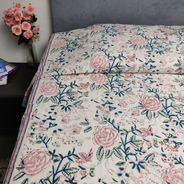 Handblock Single Bedsheet BHS54