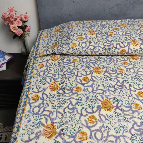 Handblock Single Bedsheet BHS64
