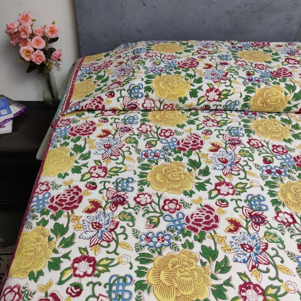 Handblock Single Bedsheet BHS66