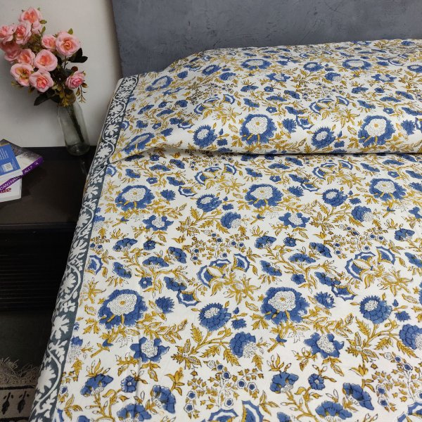 Handblock Single Bedsheet BHS67