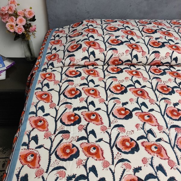 Handblock Single Bedsheet BHS68