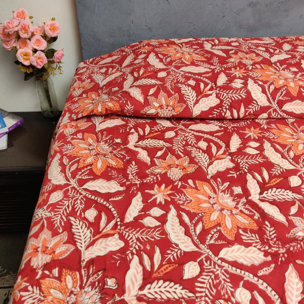 Handblock Single Bedsheet BHS69