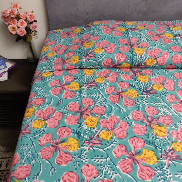 Handblock Single Bedsheet BHS70