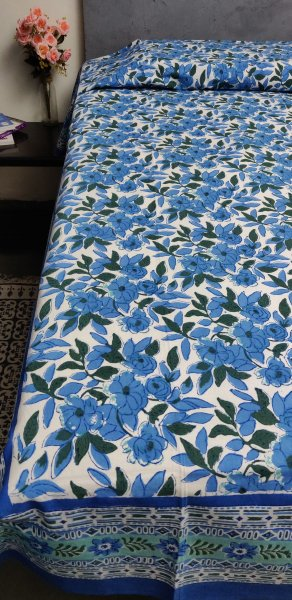 Handblock Single Bedsheet BHS79