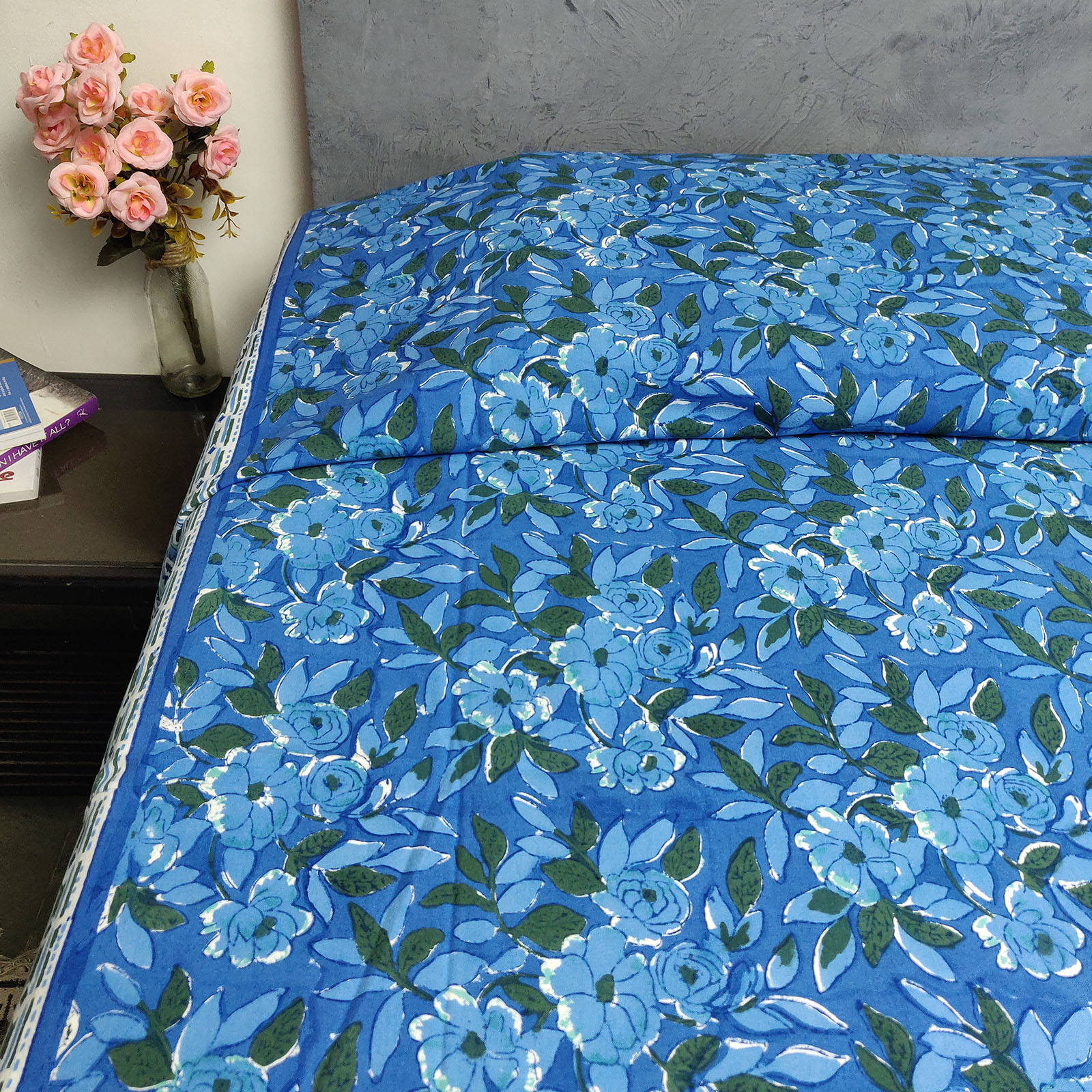 Handblock Single Bedsheet BHS80