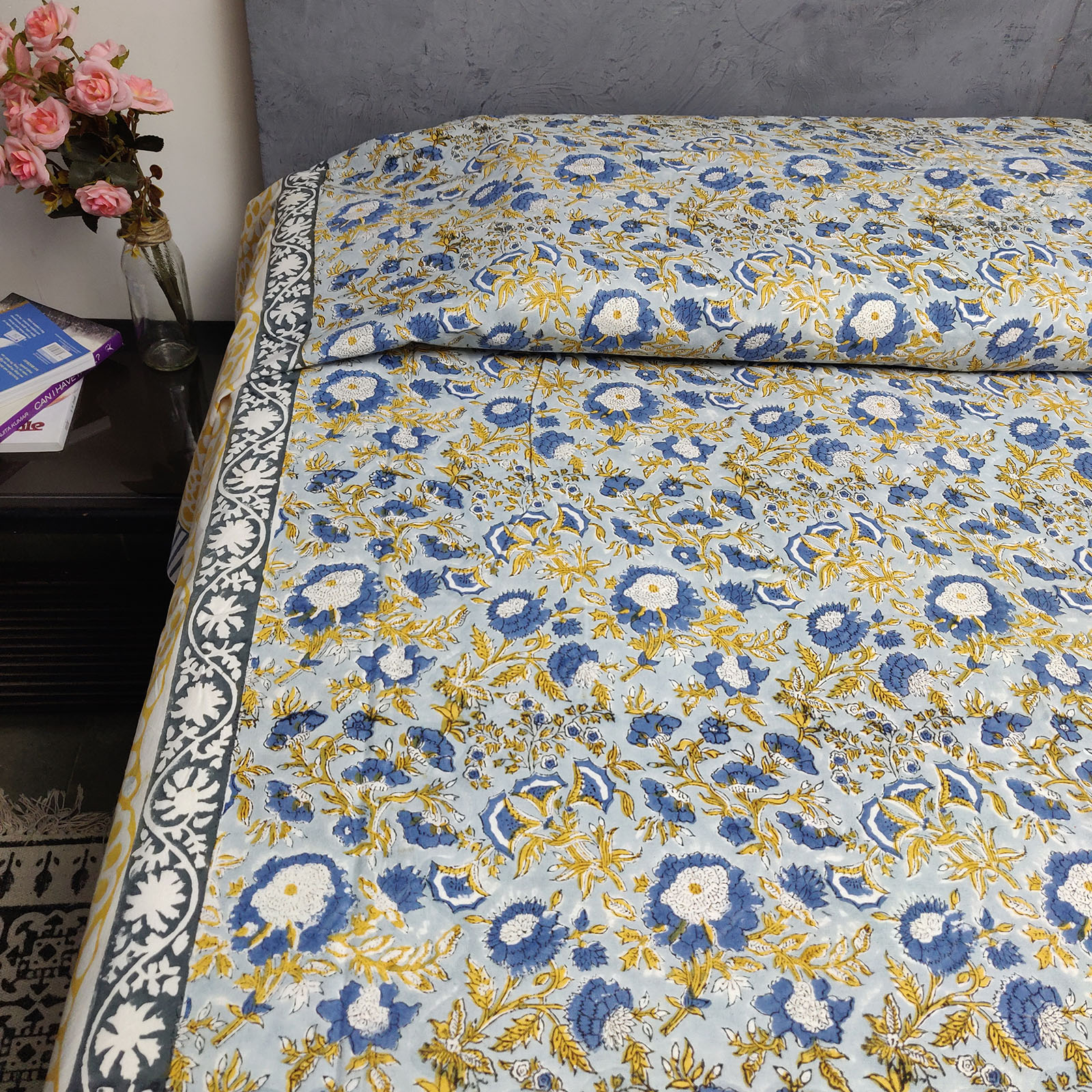 Handblock Single Bedsheet BHS86