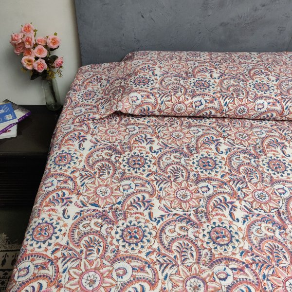 Handblock Single Bedsheet BHS91