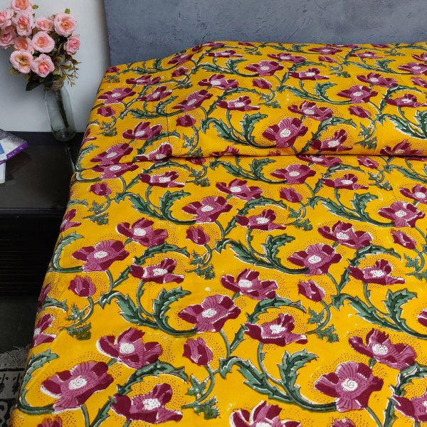 Handblock Single Bedsheet BHS93