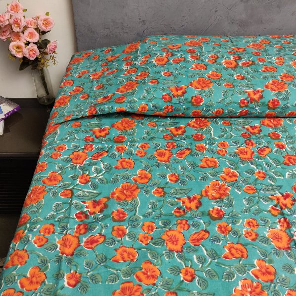 Handblock Single Bedsheet BHS95