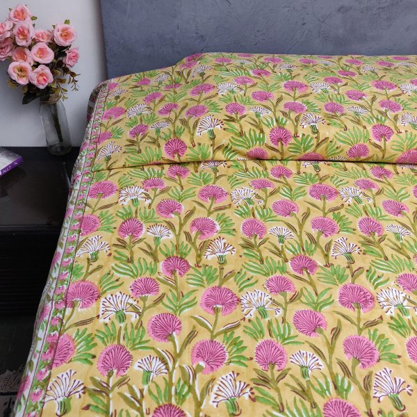 Handblock Single Bedsheet BHS96