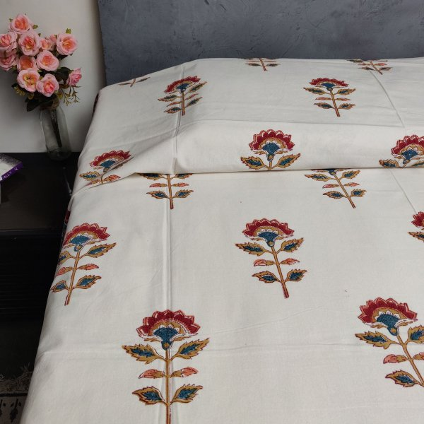 Handblock Single Bedsheet BHS99