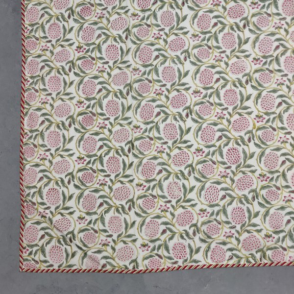 Floral Pink Green Single Size Dohar