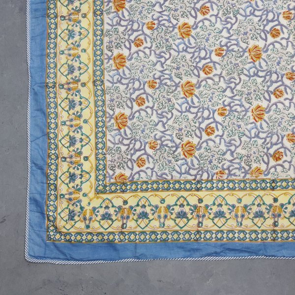 Blue Yellow Jaal Single Size Dohar