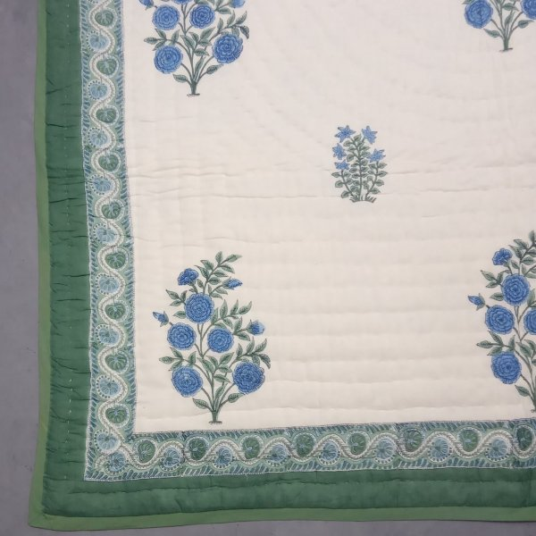 Ava Green Single Size Quilt