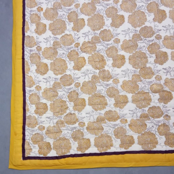 Yellow Mono Single Size Quilt
