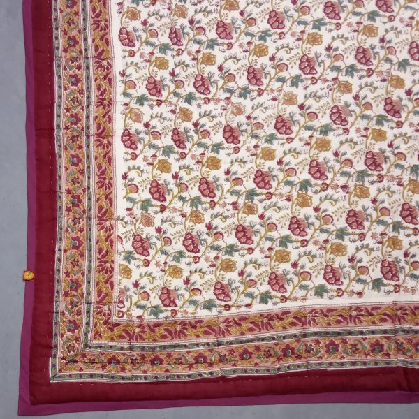 Earthy Red Single Size Quilt