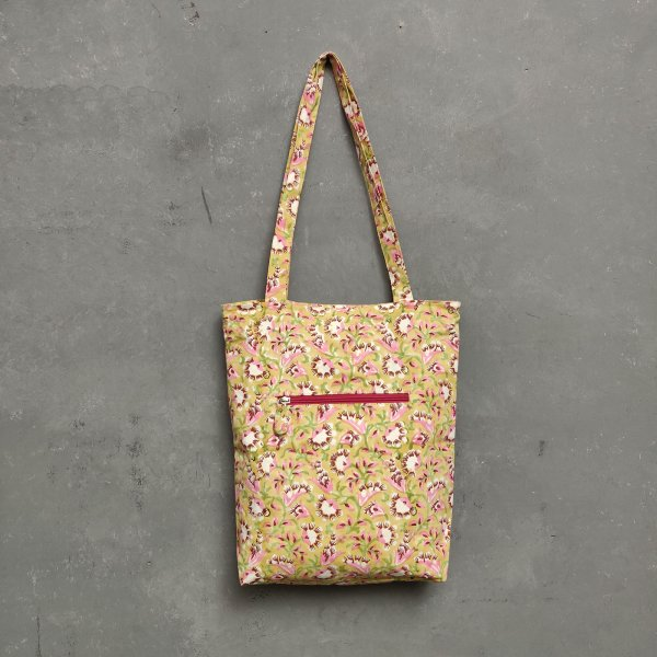 Handblock Printed Medium Canvas Tote Bag MCTB23