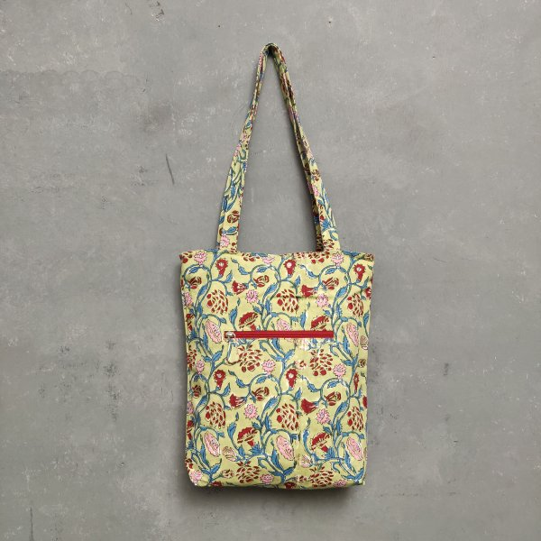 Handblock Printed Medium Canvas Tote Bag MCTB24