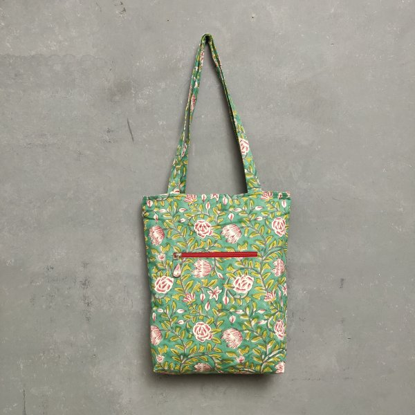 Handblock Printed Medium Canvas Tote Bag MCTB27