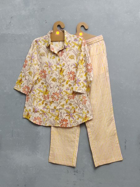 Ramira Floral Stripes Night Suit