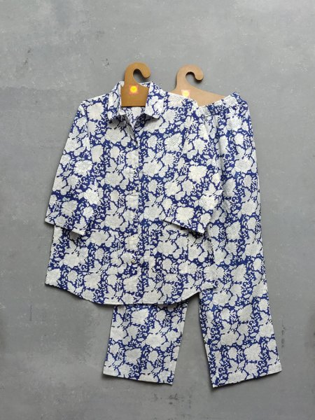 Blue Floral Myka Night Suit