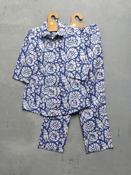 Cotton Handblock Print Night Suits WNS167