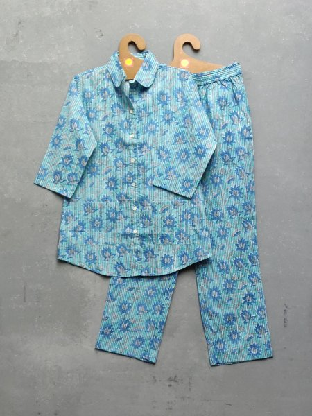Cotton Handblock Print Night Suits WNS175