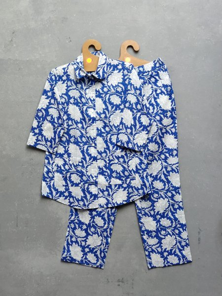 Cotton Handblock Print Night Suits WNS178