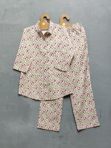 Cotton Handblock Print Night Suits WNS183