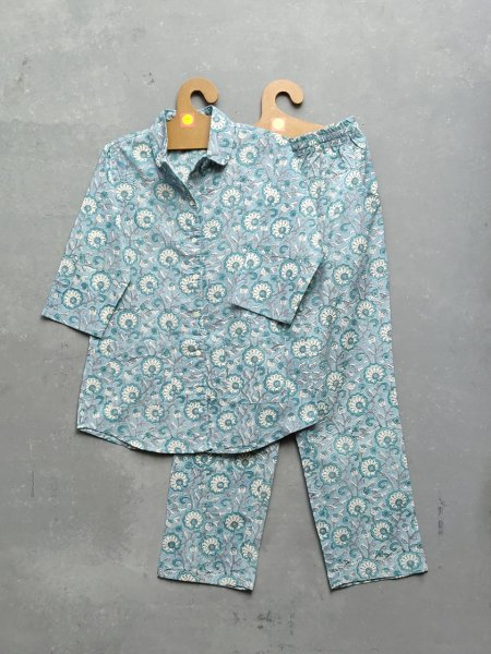 Cotton Handblock Print Night Suits WNS193