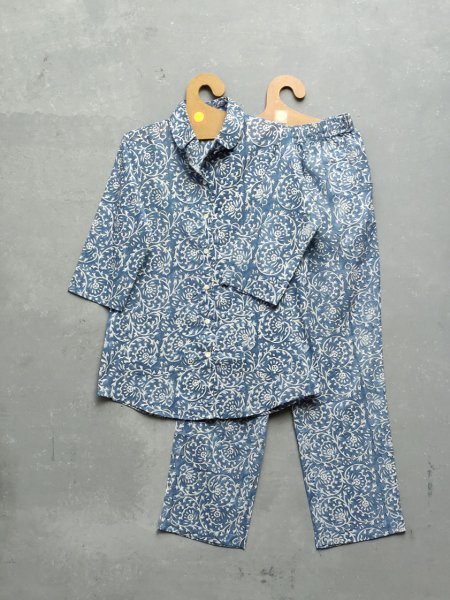 Cotton Handblock Print Night Suits WNS196