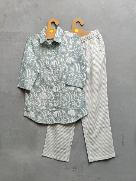 Cotton Handblock Print Night Suits WNS221